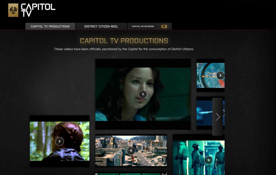 Hunger Games YouTube Channel CapitolTV