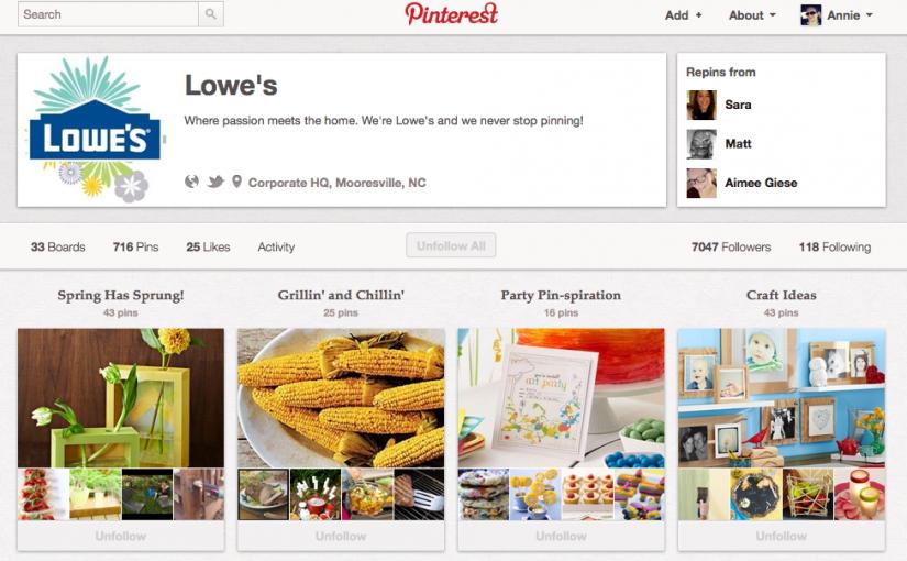 Lowes Pinterest Profile