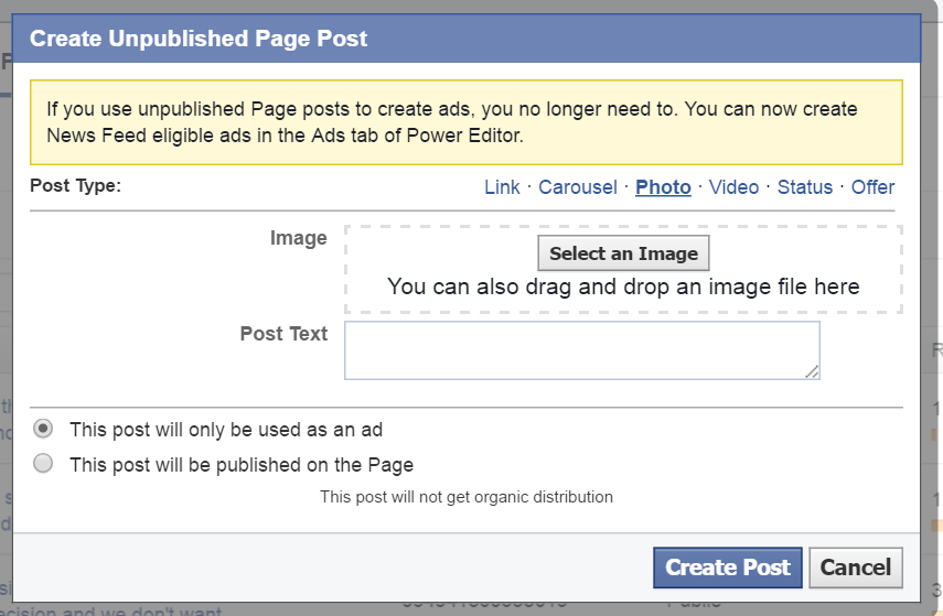 Power Editor Page Post - photo